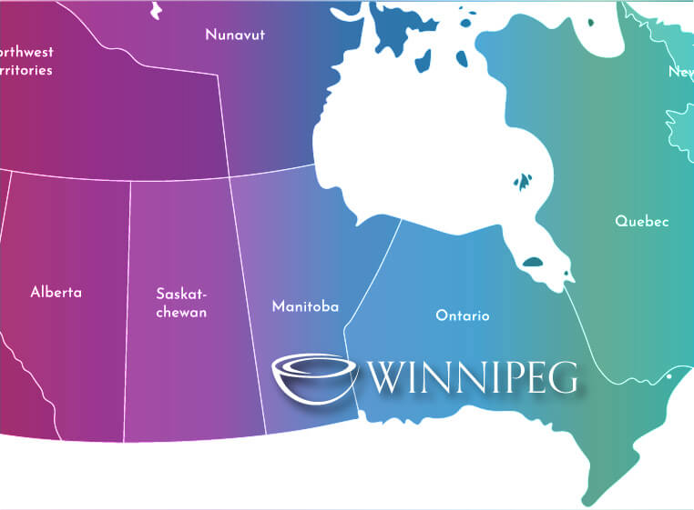 Map of Centre for Holding Space, Winnipeg